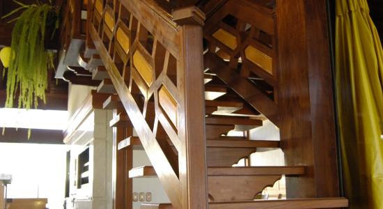 Em destaque a escada